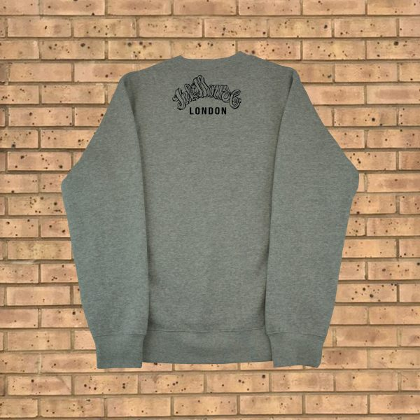 Inkhouse original black on grey sweatshirt ink house - Black and grey house ...